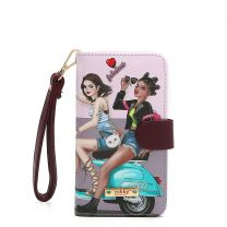 NK20303 NIKKY SATINE UNIVERSAL PHONE PRINT CASE~LOVE RIDE