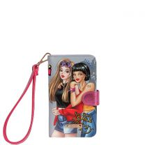 NK20303 NIKKY SATINE UNIVERSAL PHONE PRINT CASE~DOUBLE THE FUN