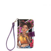 NK20303 NIKKY SATINE UNIVERSAL PHONE PRINT CASE~I HAVE A SECRET