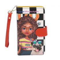 NK20303 NIKKY SATINE UNIVERSAL PHONE PRINT CASE~SASHA THE CUTIE