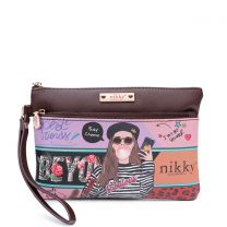 NK21009 NIKKY CASUAL POUCH WRISTLET LOVE ME TENDER