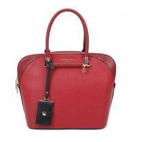 PHI15049 NICOLE LEE DOME SATCHEL BAG RED