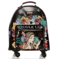 RT1507 NICOLE LEE EXPANDABLE SPINNER CARRY ON LUGGAGE 17inch~ANGELINA FOLLOWS DREAM