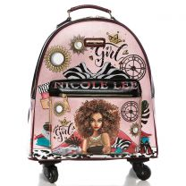 RT1507 NICOLE LEE EXPANDABLE SPINNER CARRY ON LUGGAGE 17inch~SUPER ROXANA