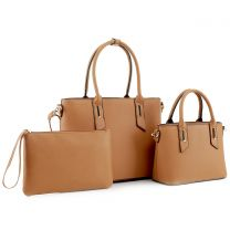 SM19459 FASHION TOP HANDLE 3-in-1 SATCHEL~BROWN
