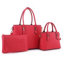 SM19459 FASHION TOP HANDLE 3-in-1 SATCHEL~RED