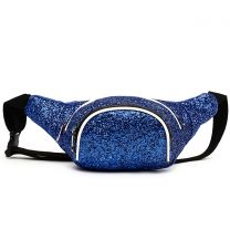 STAR200 GLITTER METALLIC FANNY PACK WAIST BAG BLUE