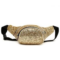 STAR200 GLITTER METALLIC FANNY PACK WAIST BAG GOLD