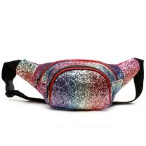 STAR200 GLITTER METALLIC FANNY PACK WAIST BAG MULTI-2