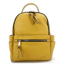 T2363 FASHION MONOGRAMMABLE SIDE POCKET BACKPACK~MUSTARD