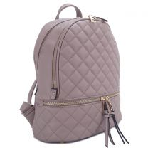 T2572 FASHION QUILTED MONOGRAMMABLE BACKPACK~LAVENDER