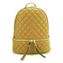 T2572 FASHION QUILTED MONOGRAMMABLE BACKPACK~MUSTARD