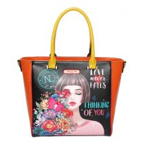 THI15403 NICOLE LEE TOTE SATCHEL~THINKING OF YOU