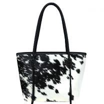 TR101P-8317 TRINITY RANCH HAIR-ON COLLECTION TOTE~BLACK