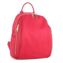 YL19140 FASHION LIGHT WEIGHT CANVAS BACKPACK~RED