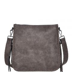 BGA5063 CONCEALED CARRY CROSSBODY MESSENGER BAG~TAUPE
