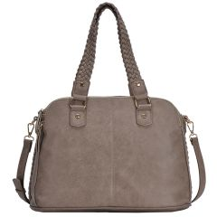 BGA81137 THREE COMPARTMENT ROXANNE SATCHEL~TAUPE
