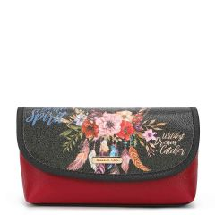 COS7112 MAKE UP BRUSH HOLDER COSMETIC POUCH~BOHEMIAN(BLACK)