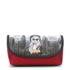 COS7112 MAKE UP BRUSH HOLDER COSMETIC POUCH~LIFE IN NEW YORK