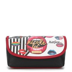 COS7112 MAKE UP BRUSH HOLDER COSMETIC POUCH~SUGAR LIPS