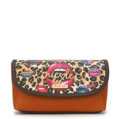 COS7112 MAKE UP BRUSH HOLDER COSMETIC POUCH~WILD LIPS