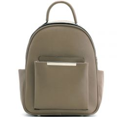 L0961 FASHION BACKPACK w/GOLD ACCENT~TAUPE