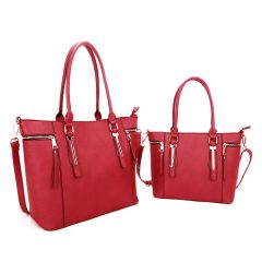 L1521 FASHION 2-in-1 BAG in A BAG SET~RED