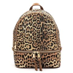 LE1062 LEOPARD TEXTURED BACKPACK TAN