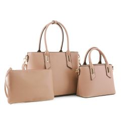 SM19459 FASHION TOP HANDLE 3-in-1 SATCHEL~TAUPE